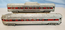AMERICAN FLYER S RED STRIPPED PASSENGER CARS..........TK