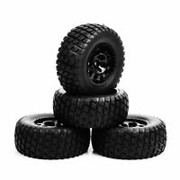 12mm Hex 1/10th Scale RC Short Course Truck Tyre and Wheel 4PC For TRAXXAS SlASH