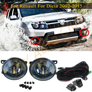 LED Fog Lights Bumper Lamps Cable c Set For Dacia Duster Sandero Logan 2004-2015