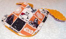 Handmade Orange Star Wars Baby Bib 100% cotton Terry Cloth Backing