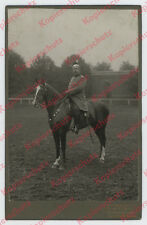 orig. Foto Kuban Ulanen-Regiment 7 Vize-Wachtmeister Jung Pferd Saarbrücken 1913