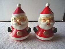 "Vintage 1960 H H Santa Clause Salt & Pepper Shaker Set "" BEAUTIFUL COLLECTIBLE"