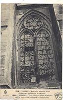 Reims - Precioso Vidrio de la Catedral Acribillado de Proyectiles (H696)