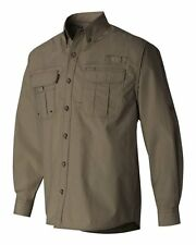 NEW Dri Duck Sawtooth Loden Camo Green Long Sleeved Button Up Vented Water Repel