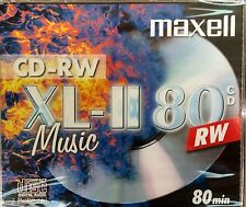 Maxell CD-RW 80 XL-II BRANDED DIGITAL Audio Music Rewritable 80Min IN Jewel Case