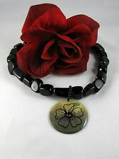 Gorgeous Black Beaded Delicate Flower Necklace CAT RESCUE