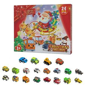 24pc/Box Dinosaur/Car Christmas Advent Calendars Xmas Countdown Toy Bulk Gifts