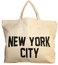2016 NYC Zippered Tote Bag 100% Cotton Canvas New York City Beach Shopping Gym