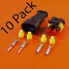 10 Pack Of Genuine AMP 2 Way Superseal Electrical Waterproof Connector Kit