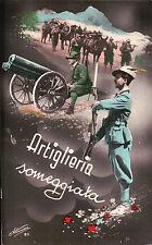 CARTOLINA WWII ARTIGLIERIA SOMEGGIATA ALPINI SECONDA GUERRA MONDIALE  19-150