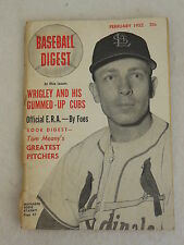 Vintage BASEBALL DIGEST February 1952 St. Louis Cardinals' Manager EDDIE STANKY