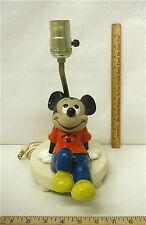 1960's Vintage Mickey Mouse Desk Table Bedside Lamp Walt Disney Productions Nice