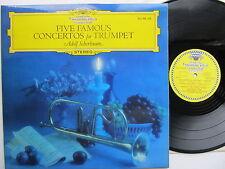 """Five Famous Concertos for Trumpet 12"""" Lp  Adolf Scherbaum DG SDJ 104 433 England"""