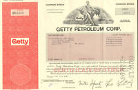 J. Paul Getty Petroleum > oil stock certificate share
