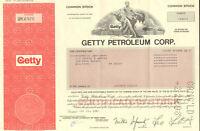 J. Paul Getty Petroleum > oil stock certificate share