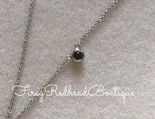 Diamond Pendant Necklace - 18K White Gold - .05 Black diamond
