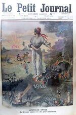 LA NOUVELLE ANNEE / SERBIE FRONTIERE CHOLERA  GRAVURE PETIT JOURNAL 1911