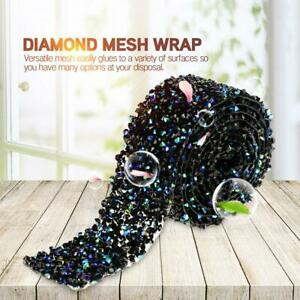 1 Yard  Diamond Ribbon Mesh Wrap Wedding Bling Decoration Handcraft