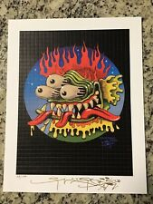 BLOTTER ART ORIGINAL  BEASTY SIGNED AND NUMBERED BY STANLEY MOUSE With COA
