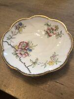 "Salisbury 5-1/2"" Saucer Fine Bone China White & Pink Floral gold edge England"