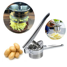 Handheld Boiled Potato Ricer Masher Puree Fruit Press Maker Stainless Steel EB