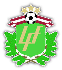 Latvia National Team Soccer Football Car Bumper Sticker Decal 5'' x 5''