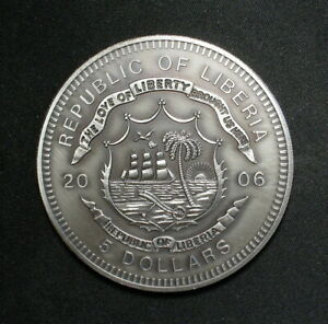 Liberia 5 Dollars Coin-Medal