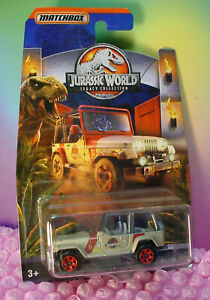 Jurassic World Legacy Collection '93 Jeep Wrangler #18 - 2/6 Gris; Red Matchbox