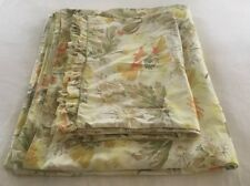 Poppy Floral King Cotton Duvet & Ruffled Shams Coverlet Reversible Stunning