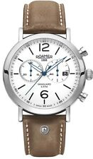 Roamer ET12.03ROX Vanguard stone strap chronograph watch V154T3e Silver RRP £320