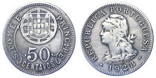 50 CENTAVOS 1928 LIBERTY HEAD SAINT THOMAS & PRINCE ISLAND #1212