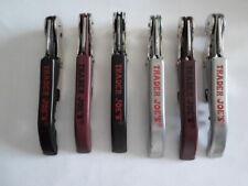 Trader Joe's Waiter's Corkscrews,Opener,w/foile r,Stainless, Lot of 6