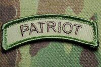 PATRIOT TAB US ARMY USA MILITARY TACTICAL ISAF OAF MULTICAM HOOK MORALE PATCH