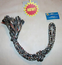 "DOG ROPE KNOT TUG FETCH TOY LARGE 19"" BLUE MULTI-COLOR"