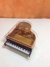 Vtg Wind-Up See Thru Music Box Piano Baby Grand Jewelry Japan Sankyo Movement
