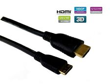 Mini-HDMI to HDMI(CM-to AM) High Speed,Ultra HD 24p,Gold,1/3/6ft/10ft/15ft Lot