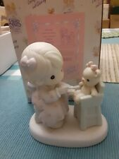 "1994 Precious Moments ""Sharing"" #Pm942 Members Only Figurine Enesco,w Box.Tags"