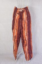 "Size 12 ""Supre"" Ladies Brown Striped Print Harem Style Pants - Good Condition!"