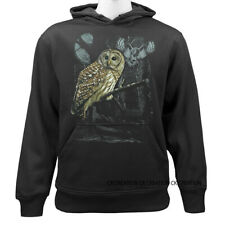 Owl Wildness Casual Graphic Pullover Hoodie