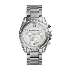 Michael Kors MK5165 Ladies Blair Collection Silver Designer Chronograph Watch