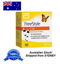 Freestyle LITE Blood Glucose Diabetes 100 Test Strips **SYDNEY STOCK**