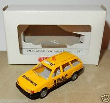 MICRO WIKING HO 1/87 VW VOLKSWAGEN PASSAT VARIANT ADAC STRABENWATCHT IN BOX