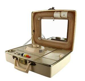 Vintage 1950s 60s Dominion Portable Suitcase Bonnet Hair Dryer Plus Nail Dryer