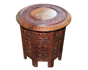 Modern AhArya Top Wooden Handcrafted Coffee Table Side End Tables Living Room