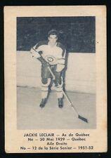 1951-52 Laval Dairy (QSHL) #12 JACKIE LeCLAIR (Quebec) -Canadiens
