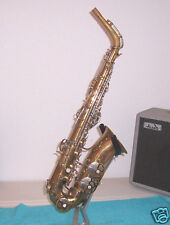 Malerne Airflow alto saxophone, sax repaired by woodwinds tech GC Selmer ?