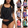 SEXY Women Two Piece Tankini Bikini Set Swimsuit Bathing Suit Swimwear Plus Size