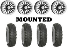 Kit 4 System 3 XCR350 Tires 30x10-14 on ITP SD Dual Beadlock Polished Wheels FXT