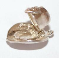 Opening Stetson Hat With Gun Sterling Silver Vintage Bracelet Charm, Gift Box