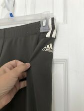W38 Womens Adidas Climacool Athletic Track Pants Green Logo See size below